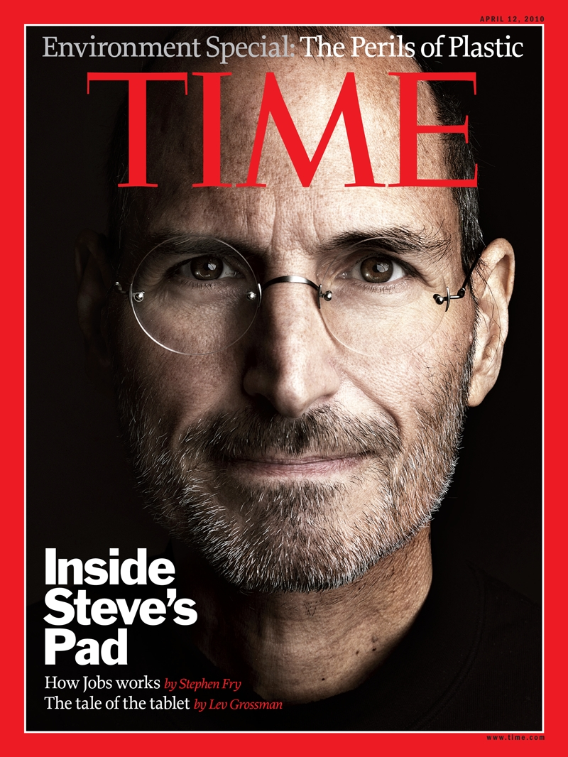 Photo steve jobs in time magazine front cover